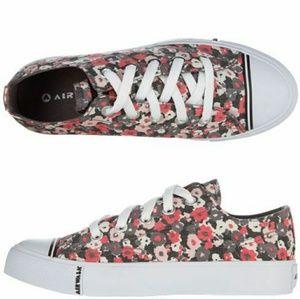 Airwalk Low Rise Floral Converse Style Sneakers